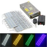 90PCS 5 Colors SMD5050 LED Module Store Strip Light Front Window Lamp + Power Supply + Remote DC12V