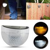 Montado na parede de energia solar 6 LED luz do jardim varanda lâmpada impermeável caminho paisagem