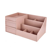 Plastic Desktop Organizer Makeup Cosmetic Storage Box Case Stationery Pen Holder Home Decorations