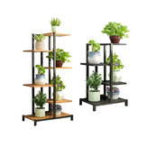 4/6 Tiers Metal Plant Stand Flower Pot Organizer Shelf Display Rack Holder for Indoor Outdoor Patio Garden Corner Balcony Living Room