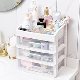 Plastic Storage Drawer Dustproof Cosmetic Storage Box Makeup Desktop Organizer Dressing Table Shelf