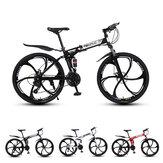MYNUO 26 Cal 21-biegowy składany rower górski podwójne hamulce tarczowe podwójny amortyzator rower terenowy rower sportowy na świeżym powietrzu