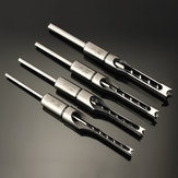Drillpro 6.35 / 7.94 / 9.5 / 12.7mm木工角穴ドリルビットモーティシングチゼル1/4〜1/2インチ