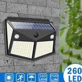 ARILUX 260LED Outdoor Solar ضوء IP65 ضد للماء Motion المستشعر Solar ضوء Garden Courtyard Passage Security ضوءing أسود