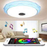 Luz de teto RGB de 40cm 24W LED Dimmable com música do orador do bluetooth do controle do APP