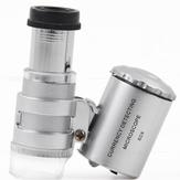 Chuda MG9882 Forstørrelsesglass 60 ganger mikroskop LED Violett lys Bærbart mikroskop med lysforstørrelsesglass