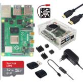 Catda 4GB RAM Rasperry Pi 4B + Kapak Kutu + Güç Kaynağı + 32/64GB Hafıza Kartı + Mikro HDMI DIY Kit