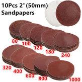 10 pièces 2 pouces disques de ponçage 80-1000 disques de ponceuse à grain 50 mm tampons de polissage de ponçage