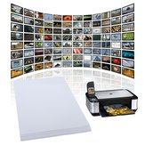 20 Sheets x A4 Gloss Glossy Photo Paper For Inkjet Printer 210mm x 297mm White