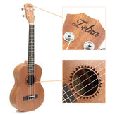 Zebra 26 Inch Sapele 18 Fret Tenor Ukulele Hawaii Guitar for Beginner