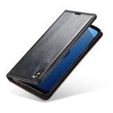 EstucheprotectorKickstandCasemeWalletpara Samsung GalaxyS9 Ranuras magnéticas para tarjetas Flip