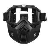 Çıkarılabilir Modüler Kask Yüzü Maske Kalkan Gözlük Açık Lens Motosiklet Bisiklet