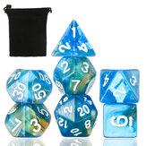3 / 7Pcs Dadi poliedrici per Dungeons Dragons Games D20 D12 D10 D8 D6 D4 + Custodia