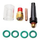 8 Adet Kaynak Torcu Gaz Lens Cam Kupası Kit TIG WP-9/20/25 Serisi 1 / 8inç için