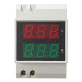 Din Rail LED AC 80-300V 0-100.0A Volt Meterr Ammeter Active Vermogen en Power Factor Time Energy Meter