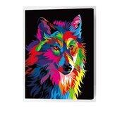 Kit de numéro de peinture à l'huile loup multicolore bricolage Pigment peinture Art main artisanat outil
