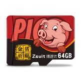 ZSUIT TF Memory Card 32/64GB/128GB High Speed Cartoon Pig TF Card Data Storage Card for Car Driving Recorder Camera Card Speaker
