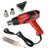 JCD 220 V / 110 V 2000 W LCD Pantalla Aire caliente Calentador Lanza térmica industrial de temperatura ajustable para el hogar DIY Soldadura Retrabajo