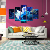 5 stks eenhoorn abstracte bloemen canvas schilderij foto wall art home decor papier art