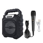 Haut-parleur Bluetooth sans fil portable extérieur avec micro FM Radio stéréo étanche Soundbox Support AUX / USB / TF / FM