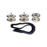 2Pcs Silver Plastic Track + Driving Wheels + Bearing Wheels Set Accessory For Robot Car Chassis