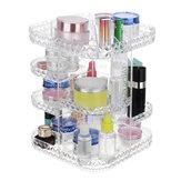 Rotación de 360 grados Transparente Acrílico Cosmético Cajón de almacenamiento Caja Maquillaje Organizador