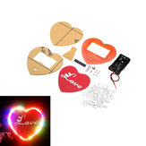 DIY Seven Color Heart Shaped LED Flow Lamp Production Kit DIY LED Flash Kit