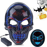 Halloween LED Masque Fluorescent Glowing Mask Masque de lumière froide Party EL Masque Light Up Masks Glow In Dark