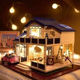 Cuteroom 1: 24DIY Handicraft Miniature Voice Activated LED Light e música com capa Provence Dollhouse