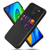 Bakeey for Xiaomi Redmi Note 9 / Redmi 10X 4G Case Luxury PU Leather + Cloth with Card Slot Shockproof Anti-scratch Protective Case Non-original