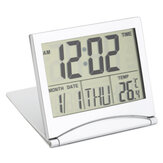 Digital LCD Screen Travel Alarm Clocks Table Desk Thermomètre Calendrier de la minuterie