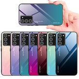 Bakeey Degrade Renk Temperli Cam Darbeye Dayanıklı Çizilmeye Dayanıklı Koruyucu Kılıf Samsung Galaxy Note 20 / Galaxy Note20 5G için
