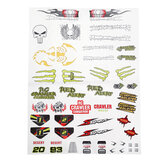 PXtoys 9303-1 1/18 DIY Stickers Decals Sheet Body Accessory RC Car Vehicles Model Spare Parts PX9300-25C