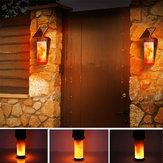 Солнечное пламя Настенный светильник На открытом воздухе Двор Сад Пейзаж Лампа 3 режима освещения