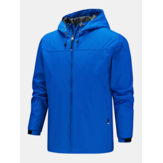 Mens Solid Color Water repellent Waterproof Zipper Outdoor Technical Jacket