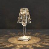 Candeeiro de mesa de cristal italiano Kartell USB Touch Sensor Candeeiro de mesa de decoração de bar Candeeiro de mesa de restaurante Candeeiro de noite romântico Candeeiro de cama