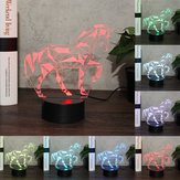 Animal Horse 3D Night Light Colorful Lampa DOPROWADZIŁO USB Dotknąć Kids DOPROWADZIŁO Lampa DOPROWADZIŁO dla dzieci