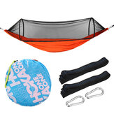 1-2 People Camping Hammock Bed Anti-Mosquito Net Hanging Swinging Folding Travel Beach