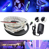 5M UV SMD2835 395-405NM Purple 300 LED impermeável Strip Light + DC Connector + fonte de alimentação 12V