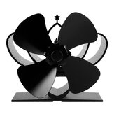 YL-201 4 Blades Fireplace Fan Kompor Fan Heated Fan Heat Powered Eco Fan