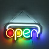 50x25cm OPEN Sign Werbung LED Neonlicht Display Cafe Bar Club Store Wanddekoration AC110-240V