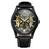 A3 Genuine Leather Strap Automatic Mechanical Watch