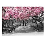 1Pc Wall Decorative Painting Cherry Blossoms Canvas Print Wall Decor Art Pictures Frameless Wall Hanging Decorations for Home Office