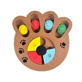 木製の足の骨の形のペット犬猫の餌のおもちゃ板おかしい訓練板ペットおもちゃ