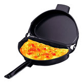 Portable Non-stick Omelette Folding Pan Stainless Iron Double Side Grill Pan Home Breakfast Pot Production Tools