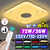 72 / 36WスマートRGB LEDシーリングライトランプワイヤレスリモートコントロールBluetooth APPコントロール