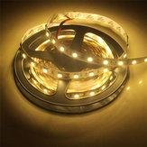 2PCS 5M SMD5050 Warm White Non-Waterproof Flexible Tape 300 LED Strip Light Lamp DC12V
