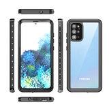 Bakeey al aire libre Natación Surf IP68 Impermeable Cubierta de cuerpo completo a prueba de golpes Protector transparente Caso para Samsung Galaxy S20 + / Galaxy S20 Plus 5G 2020