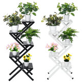 4/5 Layers Multifunctional Iron Flower Stand Ladder Plant Display Shelf Balcony Garden Decor Home Office Furniture