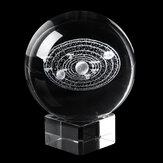 6سنتيمترواضحزجاجكريستالشفاء الكرة التأمل سفير التميمة كوكب الفضاء ديكور